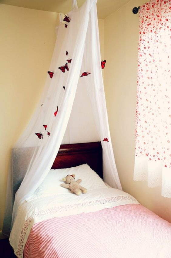 Bed Curtains canopy bed curtains for kids : canopy Bunk Beds Girls | canopy bed cover ideas , bed canopy ...