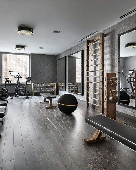 Top 40 Best Home Gym Floor Ideas Fitness Room Flooring Designs Gym Room At Home Home Gym Flooring Home Gym Decor