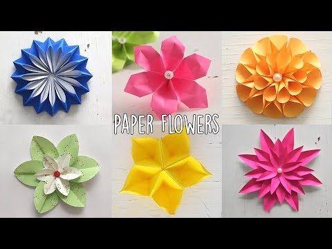 40 6 Easy Paper Flowers Flower Making Diy Youtube Paper