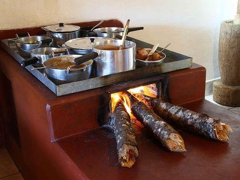 Fogon De Lena Con Mucho Espacio Backyard Fireplace Home Decor Kitchen Traditional Kitchen