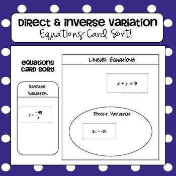 Direct variation worksheet algebra 1