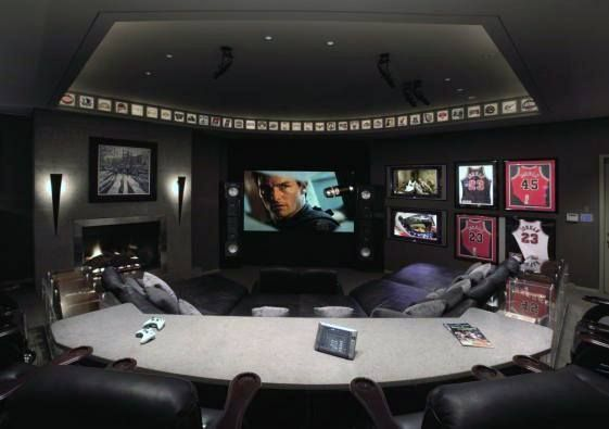 60 Basement Man Cave Design Ideas For Men Manly Home Interiors Man Cave Basement Rustic Man Cave Design Media Room Design