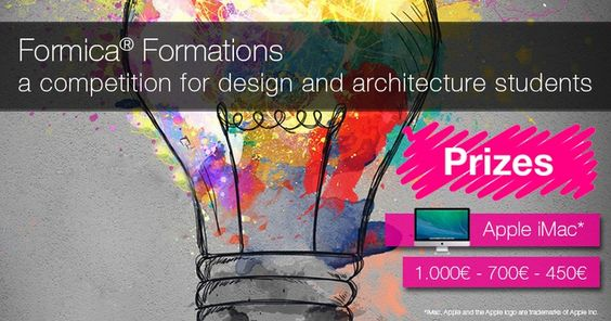 #Design and #architecture students in Europe: participate in the #FormicaFormations contest!  Get creative and re-invent the use of #lighting with our decorative #laminate solutions.  #contest #design #lights #lightingdesign #interiordesign #win #prizes #designstudents #designschool #europe #Formica #creativity #innovation #lamp #concurso #tävling #concours #competitie #MadewithFormica