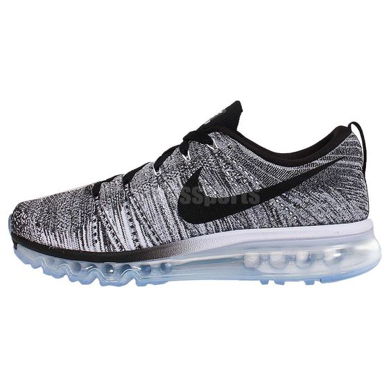 Nike Flyknit Max Oreo Black White Grey Mens Running Shoes Air Max 360 http:/