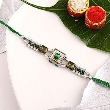 Green Pyramid Rakhi rakhi online shopping