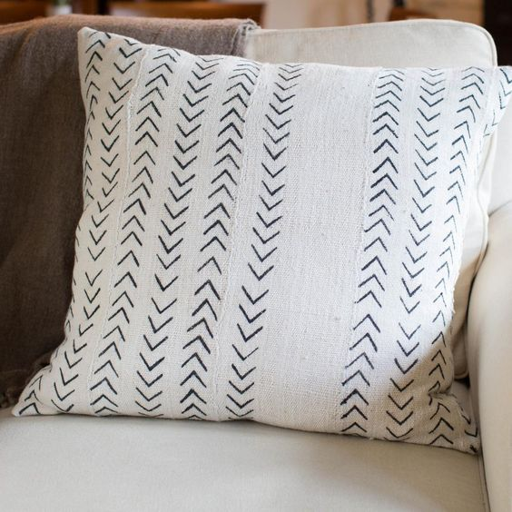 Dashes Mudcloth Pillow