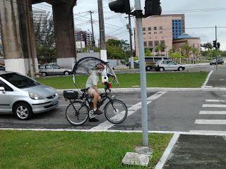 Vitória Sustentável: Opções para continuar de bike na chuva