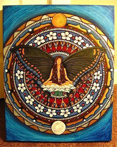 Butterfly Mandala Update :) | Blogged at: www.whitevioletart… | Flickr