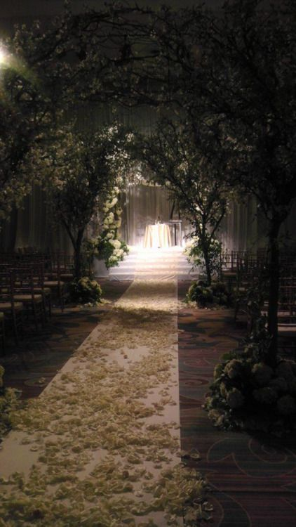 Magical wedding ceremony location.