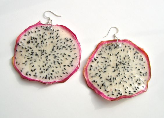 Dragon fruit cocktail earrings