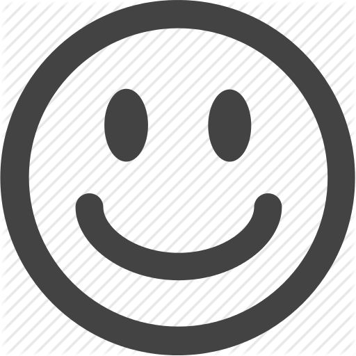 black, emoticon icon, emotion, simple shape, smile, svg icon | work in ...