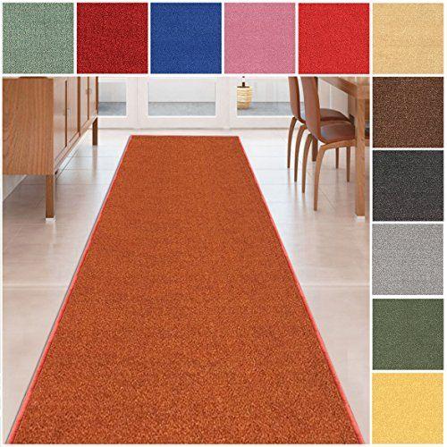 Custom Size Burntorange Solid Plain Rubber Backed Nonslip Hallway Stair Runner Rug Carpet 22 Inch Wide Choose Your Length 22in X Rugs On Carpet Rugs Rug Runner