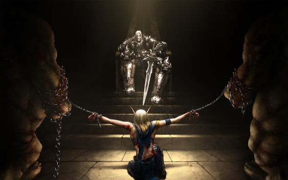 Anime Girl Chains   ... The Prisoner To Throne Elf Chains Wallpaper with 1680x1050 Resolution