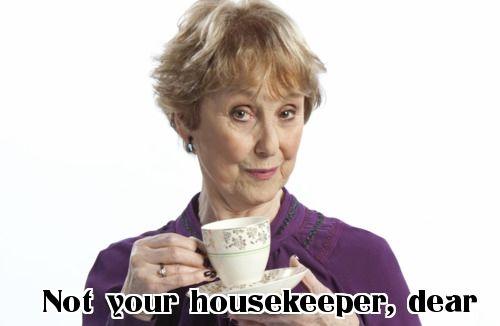 Mrs. Hudson looks afte...