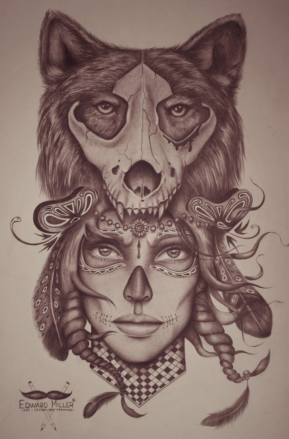 Portrait, Google and Headdress tattoo on Pinterest