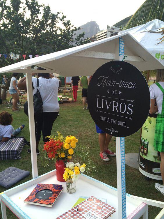 Book exchange / Troca-troca de livros | Evento Livre.Ria - Rio de Janeiro