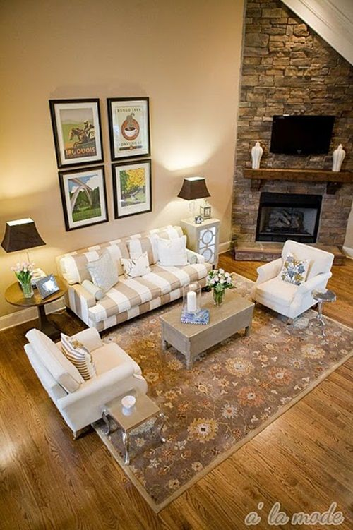 Feature friday shelli at alamode maven fireplaces for Living room furniture arrangement corner fireplace