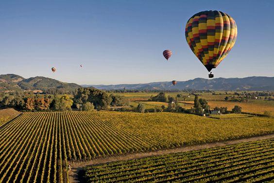 Napa Valley, CA Hot air Ballon trip