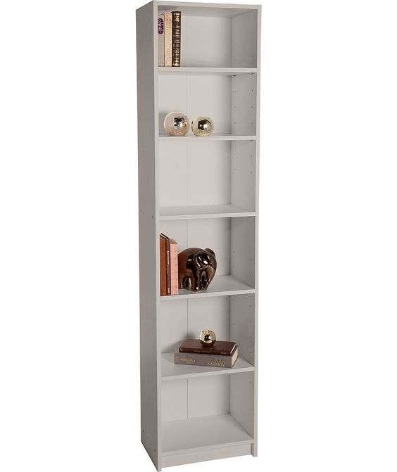 Home Maine Half Width Tall Extra Deep Bookcase Putty At Argos Co