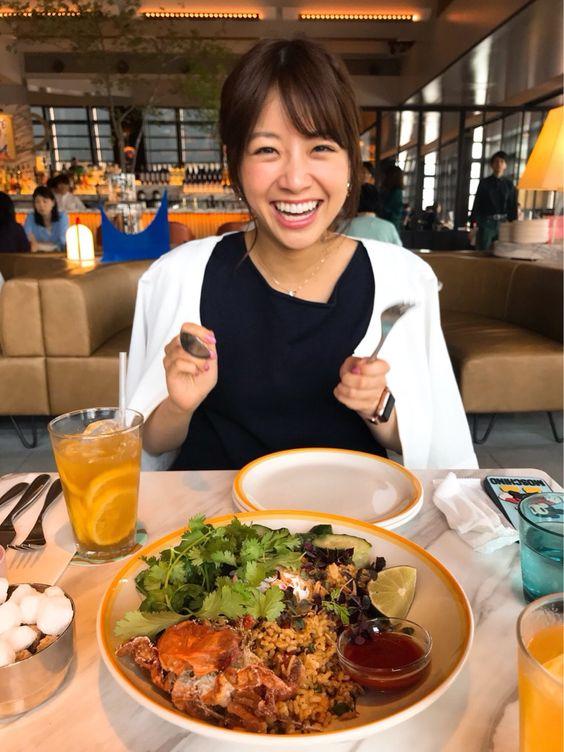 食事前の中川絵美里