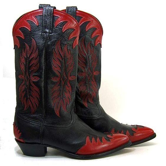 Etsy mysweetiepiepie Size 10 Men s TONY LAMA Western Cowboy Boots ...