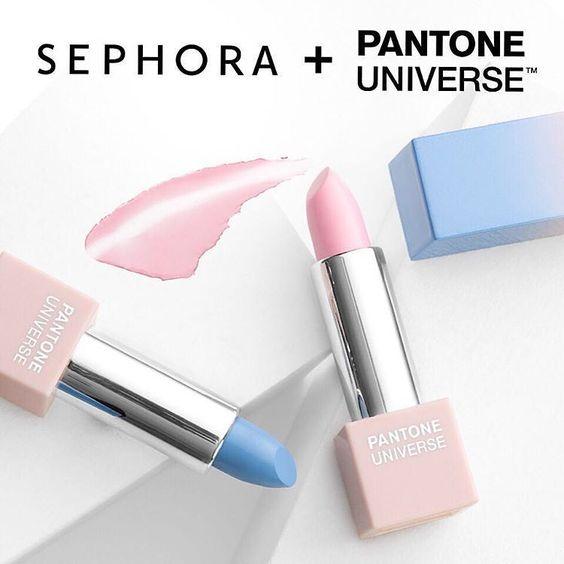 """It's here! Meet the @Sephora + Pantone Universe #ColorofTheYear: #RoseQuartz and #Serenity #SephoraPantone #Pantone"":"