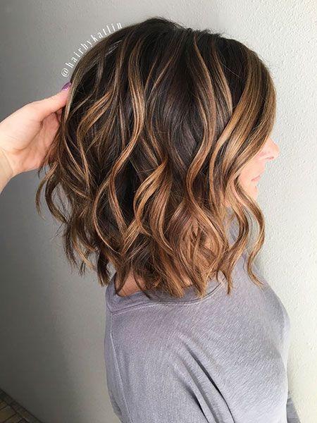 Strähnen bob mit blonden braun Haarfarbe Braun