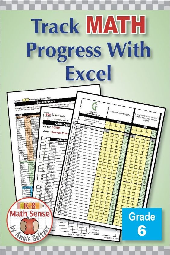 Try This Excel Spreadsheet For Planning And Tracking Progress On All 62 Grade 6 Math Goals Plus Custom Go Bridges Math Curriculum Sixth Grade Math Grade 6 Math