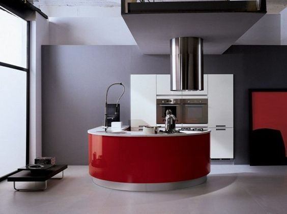 Pinterest le catalogue d 39 id es - Cuisine rouge avec ilot central ...
