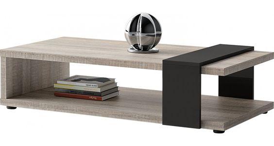 Table basse rectangulaire BROOKLYN chêne gris double plateau prix Table Basse Destock Meubles 264,00 €