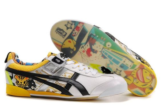 These are fun! 2012 Online Asics Onitsuka Tiger by ASICS MEXICO TOKIDOKI LO White Yellow Black