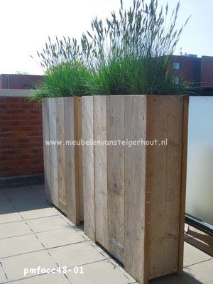 Meubelen van steigerhout buitenaccessoires van steigerhout voor mezelf pinterest - Scheiding houten ...