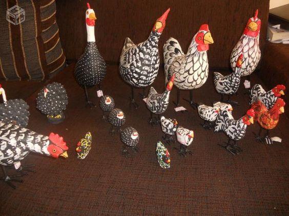 galinha de angola de madeira - Pesquisa Google