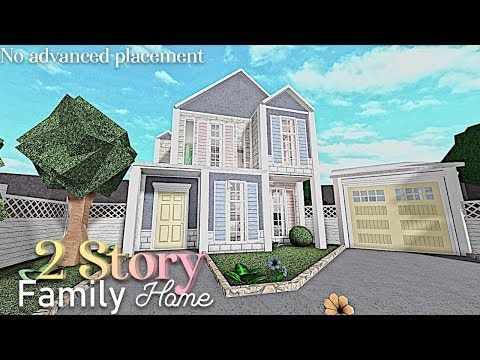 Bloxburg 2 Story Family Home No Advanced Placement Youtube In 2020 Unique House Design Simple House Plans Family House Plans