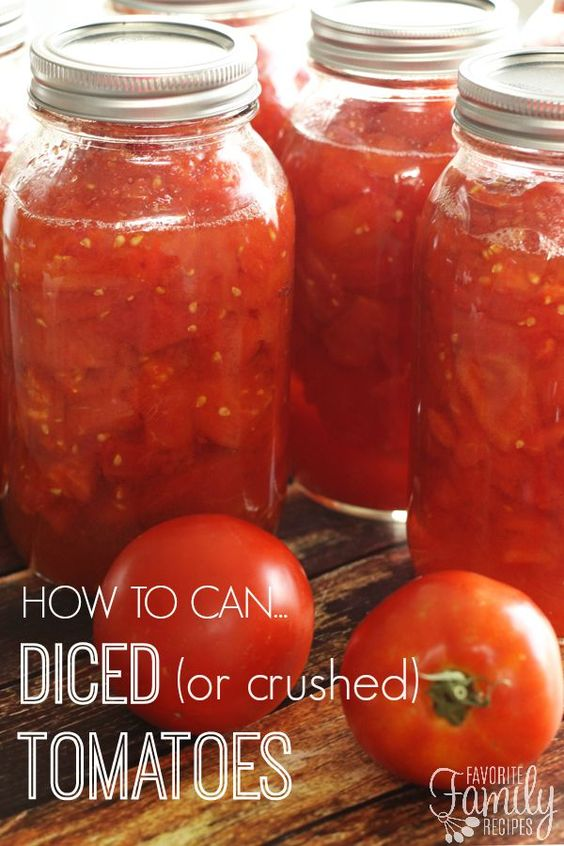 Canning diced tomatoes is SO EASY! If you have never canned tomatoes ...