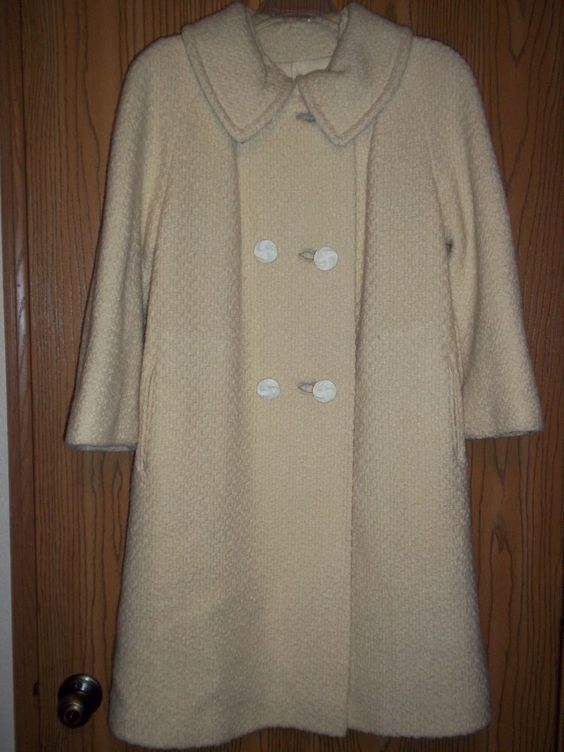 Womens Vintage Ivory Coat Medium V.I.P. Retro Costume Theater in Clothing, Shoes & Accessories, Women's Clothing, Coats & Jackets | eBay