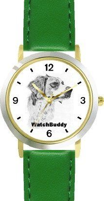 Brittany (SC) Dog - WATCHBUDDY® CLASSIC DELUXE TWO-TONE THEME WATCH - Arabic Numbers-Green Leather Strap-Children's Size-Small ( Boy's Size & Girl's Size ) WatchBuddy. $49.95. Save 38% Off!