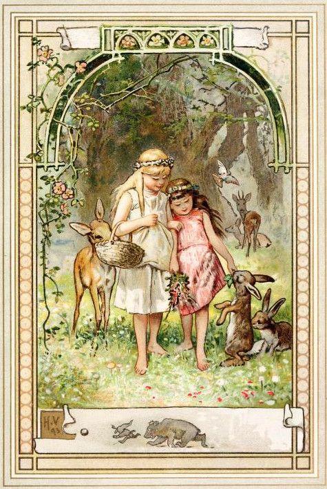 Hermann Vogel, Snow White and Rose Red: