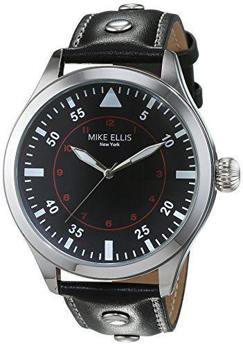 Mike Ellis New York Herren-Armbanduhr Desert Fox Analog Quarz Kunstleder SM4312 - http://on-line-kaufen.de/mike-ellis-new-york/mike-ellis-new-york-herren-armbanduhr-desert-fox