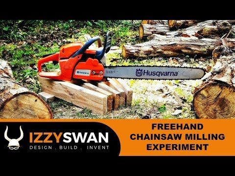 35 Freehand Chainsaw Milling Experiment Youtube