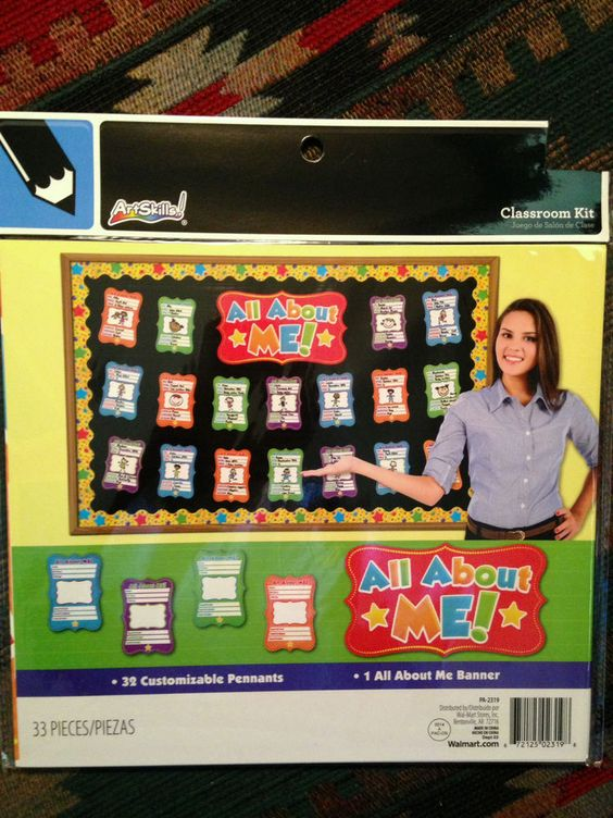 "Art Skills:""ALL ABOUT ME!"" Bulletin Board Kit (33 Pieces) READY FOR THE CLASS! Starting Bid only $4.99....come and visit!"