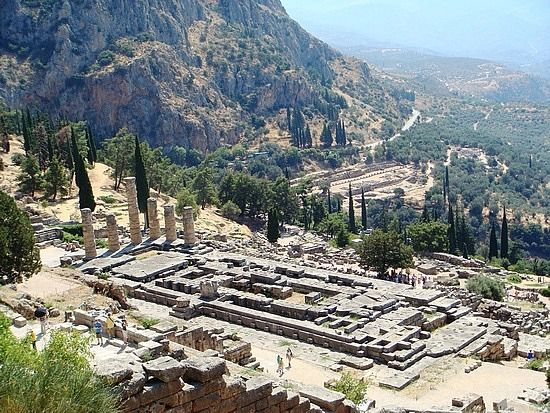 The Oracle at Delphi. Delphi, Greece. Back in the heyday ...