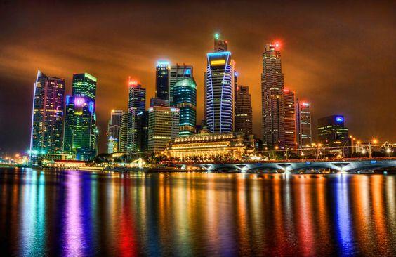 Singapore. Gorgeous.: Places To Visit, Singapore Skyline, Beautiful Places, Beautiful Cityscapes, Places I D, City Lights, Places I Ve