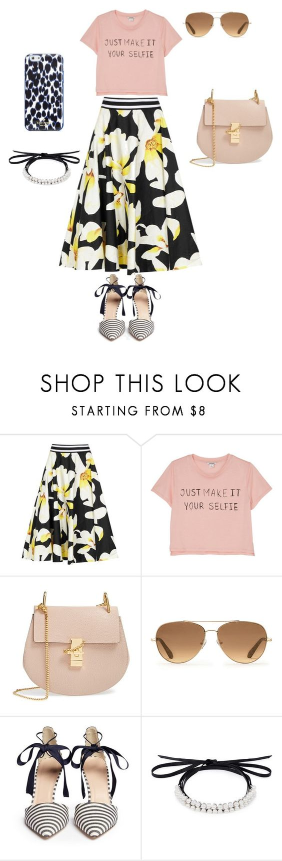 """""""Untitled #49"""" by koalabeer12 ❤ liked on Polyvore featuring Alice + Olivia, Monki, Chloé, Stella & Dot, J.Crew, Fallon and Kate Spade"""