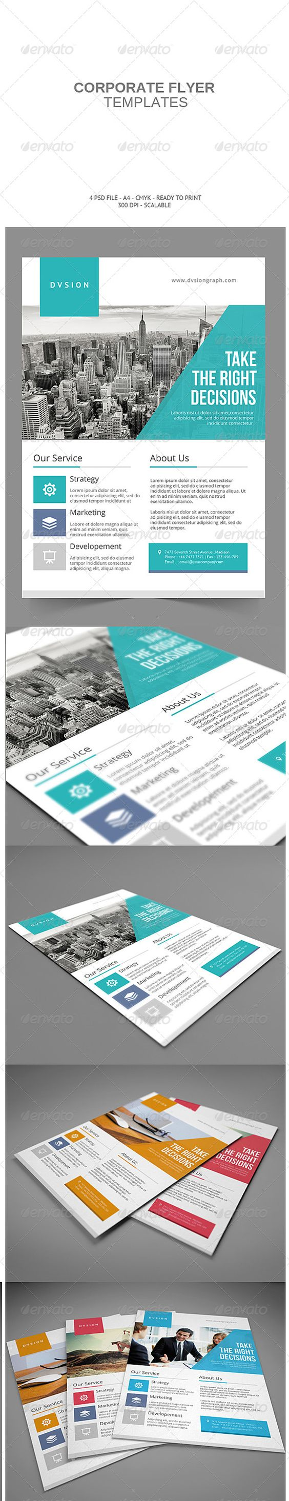buy brochure templates - corporate flyer love the design and clean web design