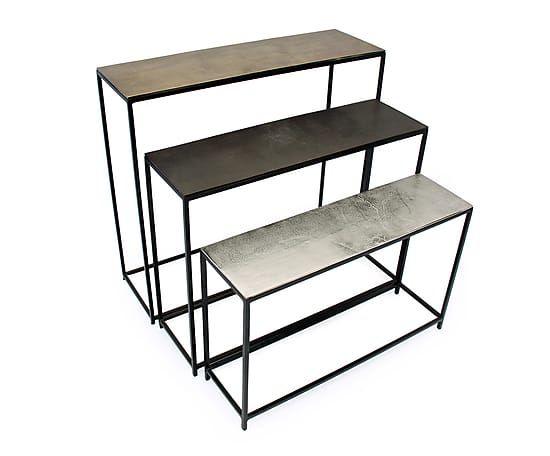 3 tables gigognes nej aluminium et m tal multicolore do it yourself pinterest tables et. Black Bedroom Furniture Sets. Home Design Ideas