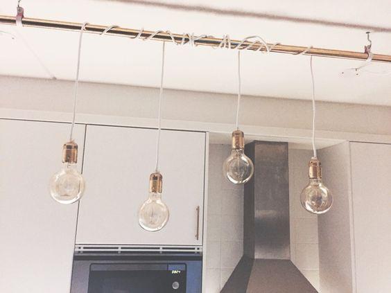 lampa,mässing,lampsladd,kök,kökslampa | Kök och Matplats ...