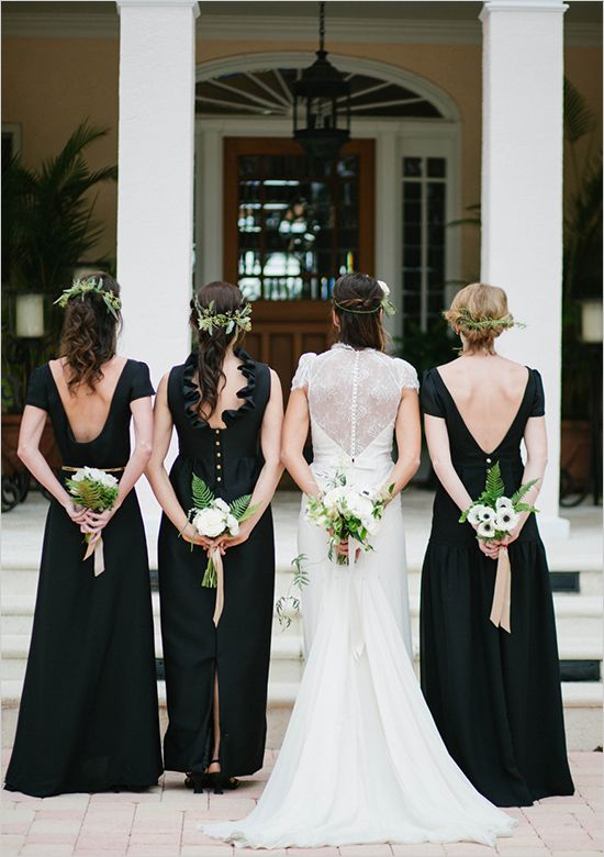 Black ensemble for bridal party. #weddingchicks http://www.weddingchicks.com/2014/07/01/zazzle/