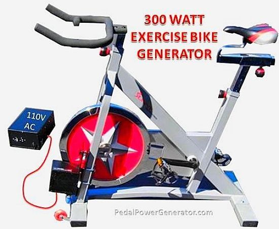 A 300 Watt Pedal Power Electricity Generator Exercise At Your Desk Biking Workout Workout At Work