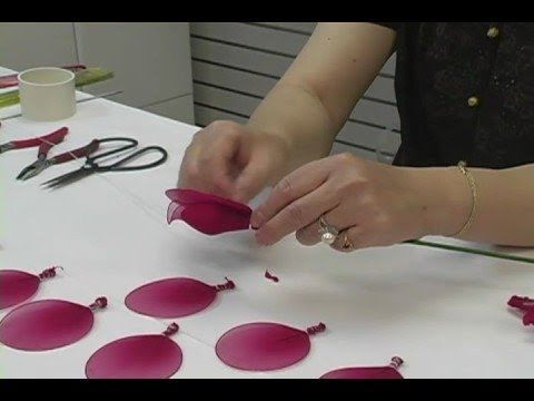 How To Make Nylon Flowers Tutorial Video blisswonders.com
